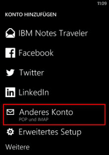 Windows Phone 8: Konto hinzufügen